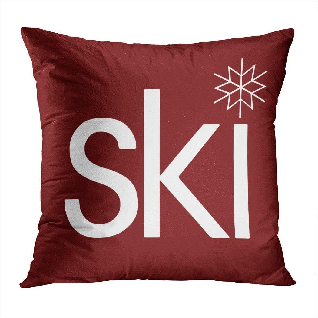 Wesbin Pretty Ski Hidden Zipper Home Decorative Rectangle Throw Pillow Cover Cushion Case 16x24 Inch One Side Design Printed Pillowcase