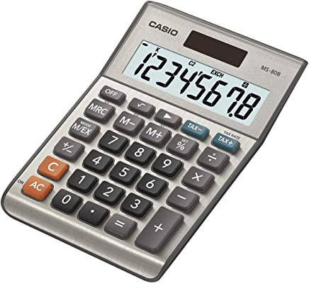 Casio MS-80B Tischrechner kompakt, silber