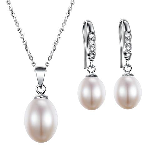 Freshwater Pearl Wedding Set Amazon Co Uk