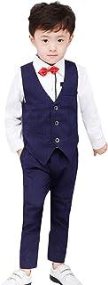 (ラボーグ)La Vogue 子供 スーツ 男の子 5点セット フォーマル 紳士服 キッズ ジュニア ベスト ズボン シャツ 蝶ネクタイ ベルト 入学式 卒業式 結婚式
