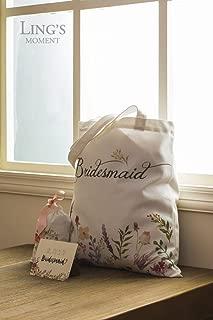 Bohemian Wedding Tote Bag,Bride Tote Bag Bridesmaid Gift Bag,Bachelorette Party Bridal Shower Gift Favor Bag