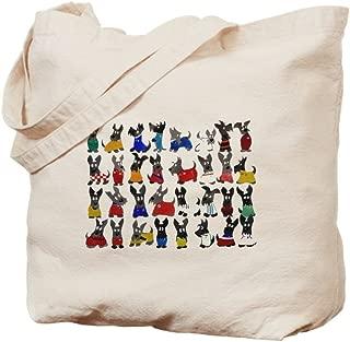 CafePress Scottie Dog 'World Cup' Natural Canvas Tote Bag, Reusable Shopping Bag
