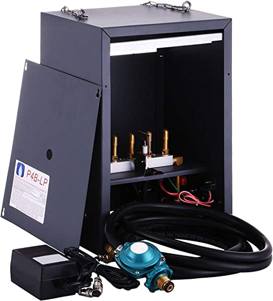 VEVOR Co2 Generator 4 Burner Carbon Dioxide Generator Hydroponic CO2 Electronic Auto Pilot Greenhouse Ignition Liquid Propane LP 2262 9052 BTU 4 Burner