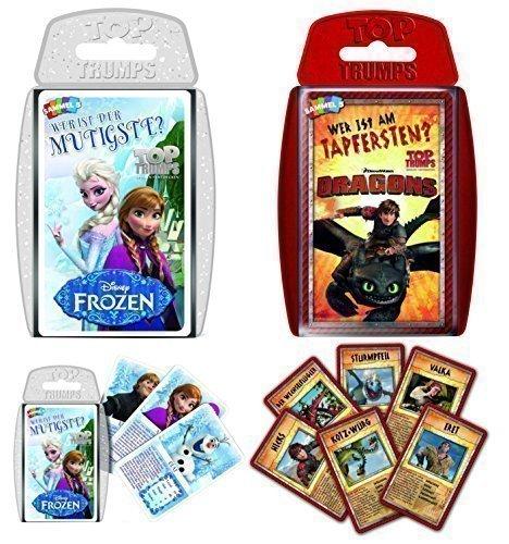 Top Trumps Set - Disney Frozen & DreamWorks Dragons Quartett Kartenspiel