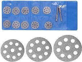 YOUZHA 12pcs / set Rotary Tool Hojas de sierra circular Hoja de molienda de diamante Mini-jadeita Discos de rueda de corte Herramienta de sierra de molienda eléctrica-20MM
