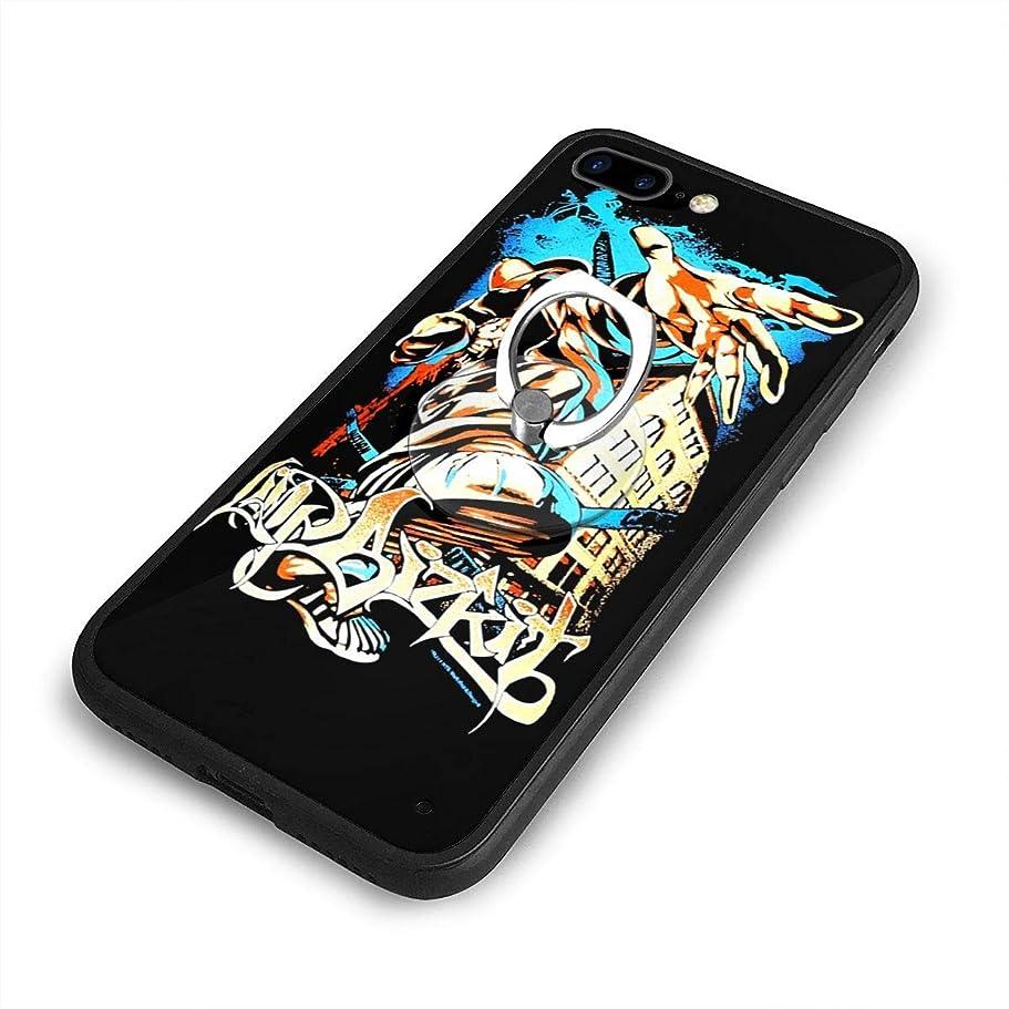 水陸両用週末くまLimp Bizkit D40+g iPhone 7/8 Plusケースリングブラケット 携帯カバー 創意デザイン軽量 傷つけ防止 360°回転ブラケット 携帯ケース PC 衝撃防止 全面保護