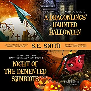 A Dragonling's Haunted Halloween and Night of the Demented Symbiots audiobook cover art