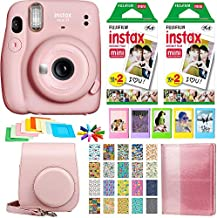 Fujifilm Instax Mini 11 Instant Camera - Blush Pink (16654774) + 2X Fujifilm Instax Mini Twin Pack Instant Film (40 Sheets) + Protective Case + Photo Album Instax Mini 11 Accessory Gift Bundle