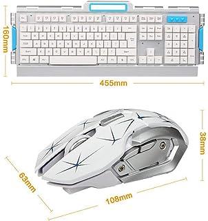 LFHKN Floating Metal Waterproof Wireless Mouse Set Office Game Dual Keyboard Mouse Set