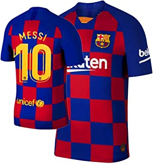 New Messi #10 Barcelona Home Mens Soccer Jersey 2019/2020 Season Color Red/Blue Size M
