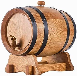 Tonneau de vin, Distributeur de fûts à vin en bois de chêne 5L Demijon avec support pour bière Whisky Rhum Casier à vin Pr...
