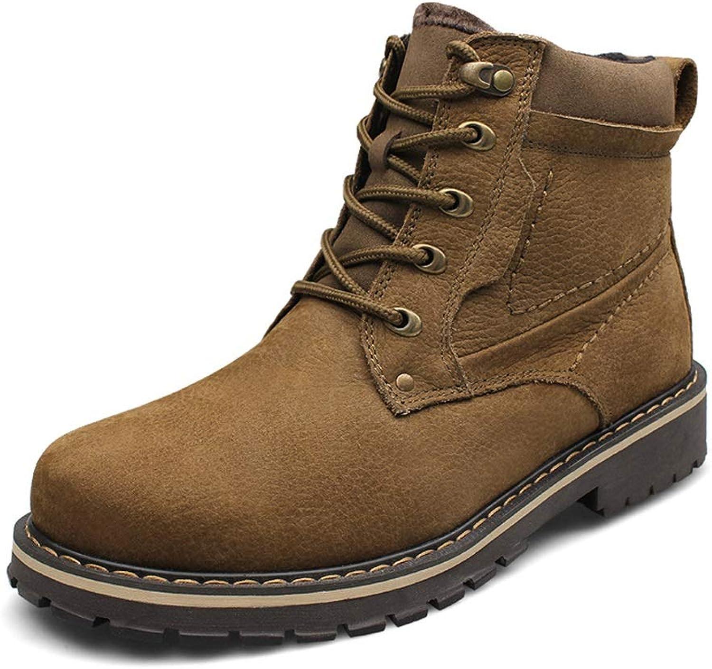 Manliga skor för mode, toppstyrda stridskängor Martin stövlar Fall    Winter läder Hiking skor (färg  A, Storlek   45)  inget minimum