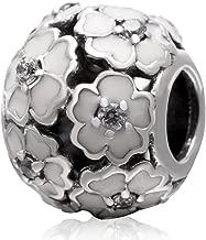 925 Sterling Rose Charm Flower Charm Love Charm Anniversary Charm Valentine Charm Birthday Charm for Pandora Charms Bracelet YC-3118