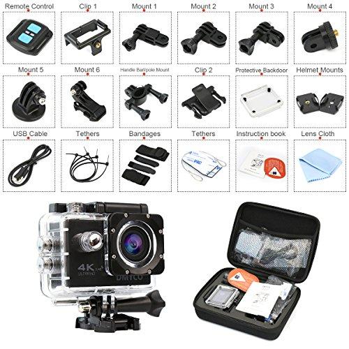 Sport Action Camera, Dmyco 5,1cm 4K Ultra HD 16MP WiFi sport Action Camera subacquea Diving 30m impermeabile 170gradi grandangolare fotocamera con telecomando