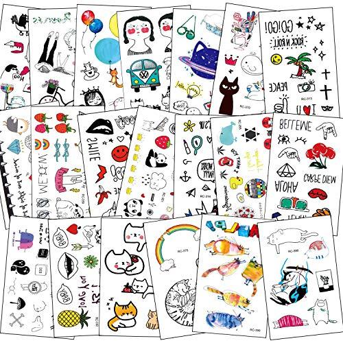 SZSMART Tatouages pour Enfants, Tatouage Temporaire Fille Garçons Tattoos Étanche 10,5 x 6cm, 300 + Tatouages Mignonnes Enfant fête d'anniversaire Cadeau, Motifs variés