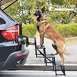 Finetree Foldable Folding Pet Dog Car Boot Access Steps Ladder Heavy Duty Lightweight