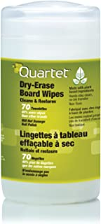 Quartet Dry Erase Cleaning Wipes, 70 Sheets, Non-Toxic Disposable Whiteboard Wipes, Low-Odor (52-180032Q)