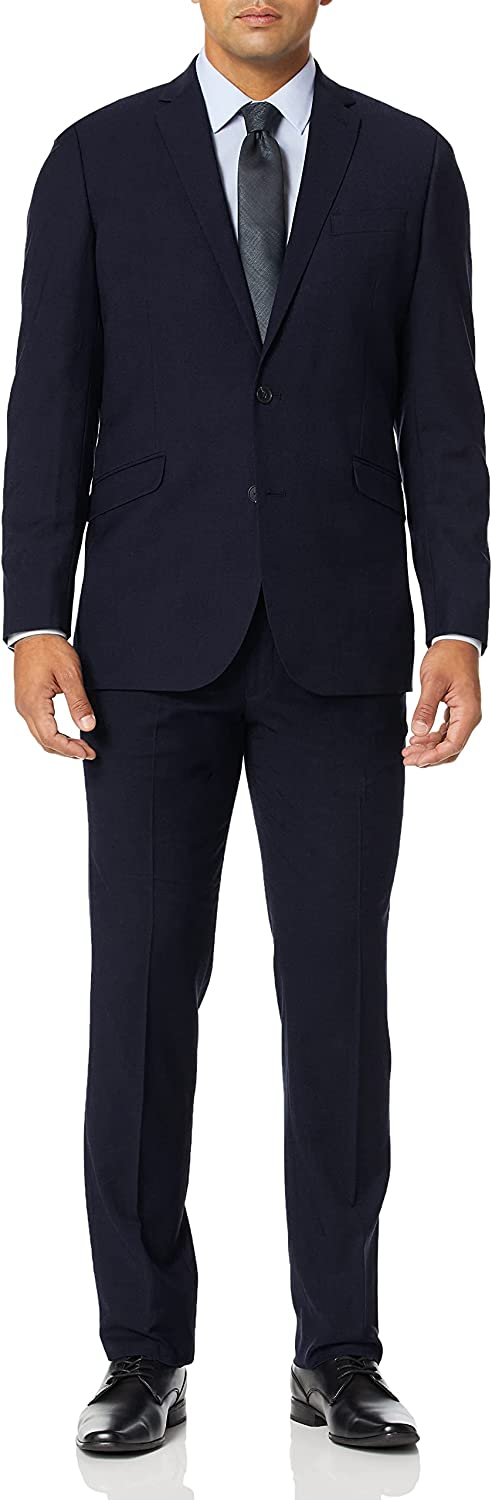 Kenneth Cole REACTION Recommended Excellence Men's Suit Fit Stretch Slim