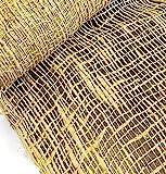 Jute Burlap Netting mesh 48 Inch X 15 Feet 60 sq ft Gardening Burlap Erosion Control Liners, Loose Weave Jute-Burlap for Raised Bed, Seed Cover, Slope Soil Saver and Garden Blanket