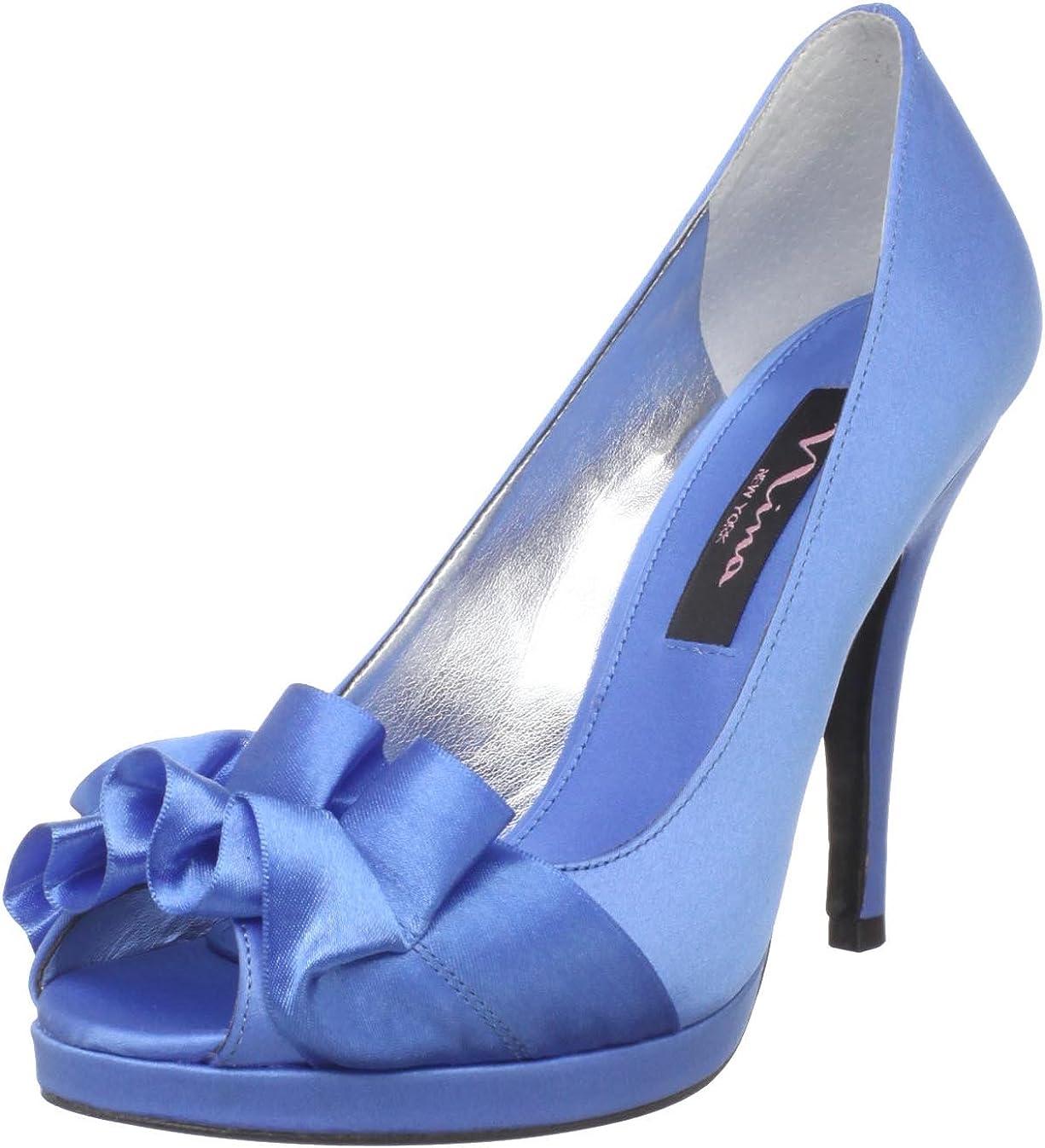 Nina Women's Evelixa Peep-Toe Pump Dealing full price reduction M 2021 spring and summer new US China 6 Blue