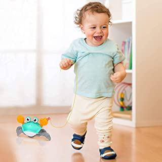 Baby Bath Toys for Toddler 1-3 Years Old, Wind Up Swimming Walking Crab Pulling Toys Birthday Gifts for 2 3 4 5 Years Boys...