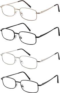 31e3ff3419 Pack de 4 Gafas de Lectura Vista Cansada Presbicia, Graduadas Dioptrías + 1.00 hasta +