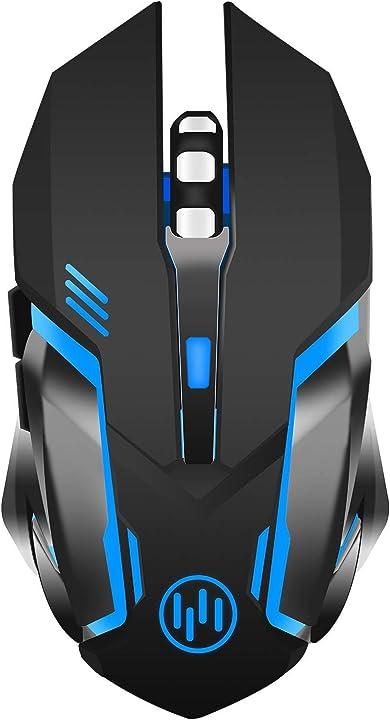 Tenmos x96 ricaricabile wireless gaming mouse, ottico retroilluminato mouse senza fili