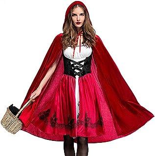 LDSSP Halloween Hood Costume per Donna Halloween Cosplay Ragazza Mantello Scialle XL A
