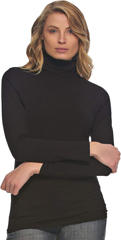 Felina | Long Sleeve Cotton Modal Turtleneck | Base Layer at  Women's Clothing store