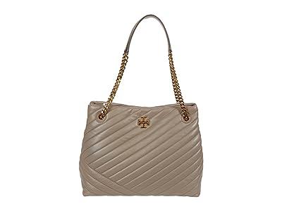 Tory Burch Kira Chevron Tote (Gray Heron) Handbags