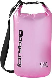 IDRYBAG Clear Dry Bag Waterproof Floating 2L/5L/10L/15L/20L, Lightweight Dry Sack Water Sports, Marine Waterproof Bag Roll...