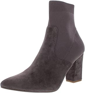 Steve Madden Womens Remy Suede Block Heel Sock Boot