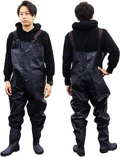 ウェーダー ナイロンウェーダー チェストハイウェーダー 釣り 防水ズボン ポケット付き ラジアルソール 簡単着脱