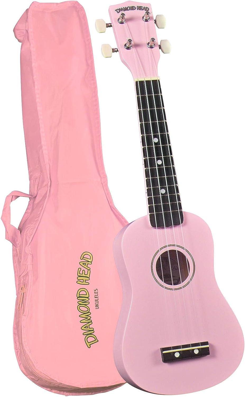 Diamond Head Large discharge sale DU-110 Rainbow price - Pink Soprano Ukulele