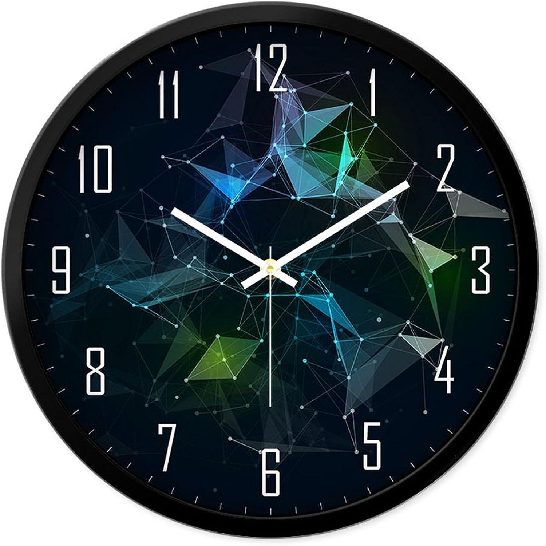 Envío y cambio gratis. HAO SHOP Reloj Reloj Reloj de Parojo Reloj De Parojo Silencioso, 12 Pulgadas 14 Pulgadas, Metal, Reloj De Cuarzo, con Pilas (Color   Negro, Tamao   S)  venta de ofertas
