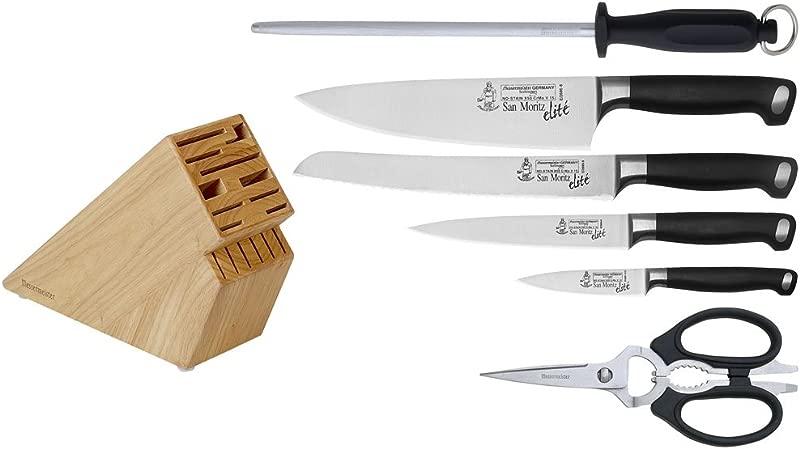 Messermeister San Moritz Elite 7 Piece Knife Block Set