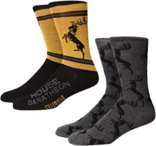 Game of Thrones Baratheon Allover Sigil Adult 2-pack Crew Socks