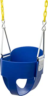 Squirrel Products High Back Full Bucket Toddler Swing Seat with Plastic Coated Chains - Swing Set