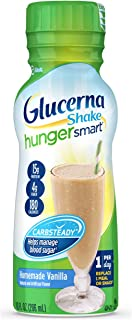 Glucerna Hunger Smart, Diabetes Nutritional Shake, To Help Manage Blood Sugar, Homemade Vanilla, 10 fl oz, 6 Count
