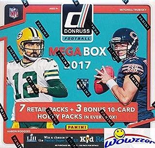 2017 Donruss Football EXCLUSIVE Factory Sealed MEGA Box with 7 Packs & BONUS (3) HOBBY PACKS!Look for Rookies & Autographs of Deshaun Watson, Alvin Kamara, Patrick Mahomes & Many More! WOWZZER!