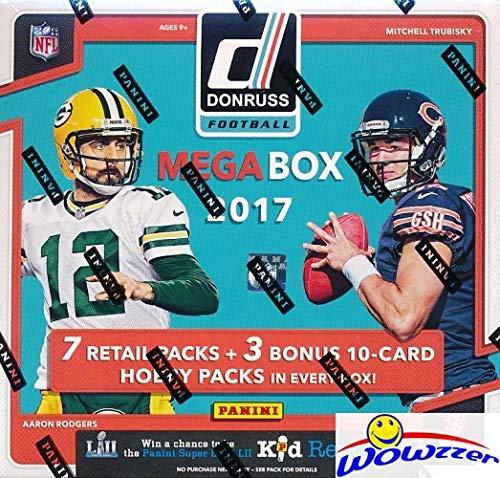 2017 Donruss Football EXCLUSIVE Factory Sealed MEGA Box with 7 Packs & BONUS (3) HOBBY PACKS! Look for Rookies & Autographs of Deshaun Watson, Alvin Kamara, Patrick Mahomes & Many More! WOWZZER!