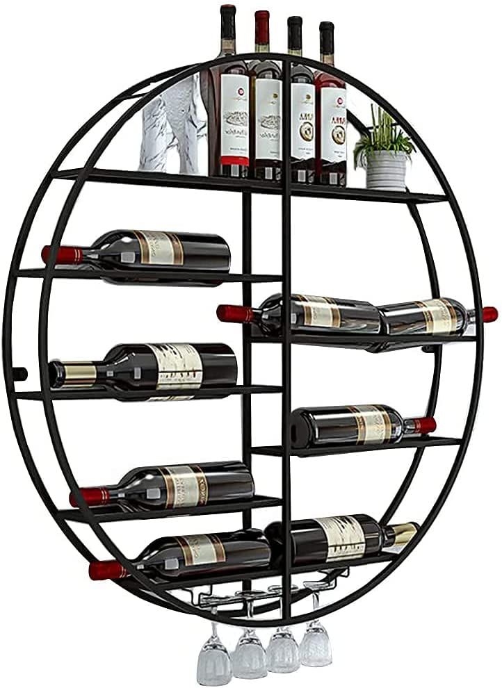 Philadelphia Mall ZHICHUAN Courier shipping free shipping Wall-Mounted Display Rack Round Upsid Metal Wine