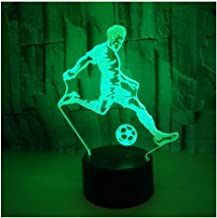 3D Optical Illusion LED Lamps Night Light,Amazing 7 Colors Quick Touch Switch Lamp,USB Powered Deco Lamp,Birthday Christmas Holiday Gift for Kids and Friends,Football_a