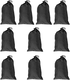 NCONCO Bolsa de transporte con cordón de poliéster, impermeable, bolsa de almacenamiento, color negro