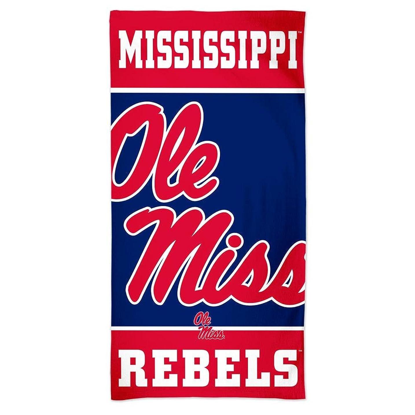 それから結核国歌WinCraft Ole Miss Rebelsビーチタオル30?x 60?spectraビーチタオル