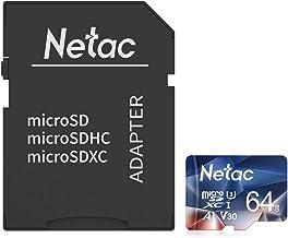 Netac 64G Scheda Micro SD con Adattatore SD, Scheda di Memoria A1, U3, C10, V30, 4K, 667X, UHS-I velocità Fino a 100/30 MB/Sec(R/W) Micro SD Card per Telefono, Videocamera, Switch, Gopro, Tablet