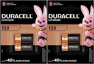 Duracell Ultra Fotobatterie CR123, Lithium Batterie, 3 V, 4 Stück
