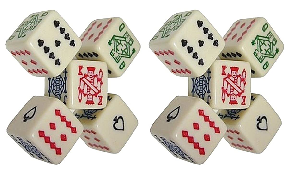 (2) Sets of 5 Poker Dice 16mm