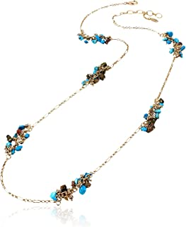 Amrita Singh Turquoise Chipped Bead Station Necklace