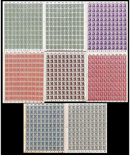 Goldhahn SBZ Nr. 1-7A, 1AB postfrisch  Bogensatz Briefmarken für Sammler